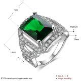 Kunstmatige Juwelen van de Ring van de Partij van de Diamant van de manier de Elegante Witgoud Geplateerde