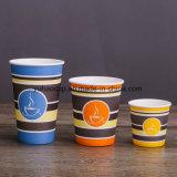 Caffè caldo fatto personalizzato 12oz tazza di carta a parete semplice
