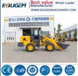 2 Tonnen-Rad-Ladevorrichtung mit 4 in 1 Motor-Cer-anerkanntem Schnellkuppler der Wannen-Yunnei/Xichai und in den Multifunktionszubehören