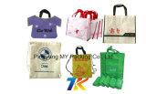 Шелк трафаретная печать брелоки магазинов Non-Woven сумки для справедливого