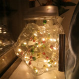 Luz de cortiça de garrafas de vinho, Luz de String de Natal com coloridos campainhas