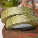 De hete In het groot Gouden en Zilverachtige Breedte van de Verkoop schittert het Lint van het Satijn van de Sierband