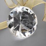 Ясный белый диамант кристаллический стекла для подарков гостя венчания