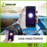 A19 GU24 regulable de la base de la luz de WiFi 60W equivalente (9W) ajustable blanca (2000K-6500K) bombilla LED Smart WiFi