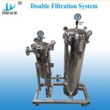 Filtro a sacco duplex del collegamento parallelo per acqua minerale bevente di filtrazione