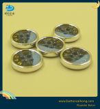 Настраиваемый логотип шелк никелевое покрытие печати лазерных кофта блестящих пластиковую кнопку