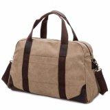 重い綿のキャンバスの革旅行袋
