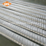 Conducto plano del metal del postensado para la construcción concreta