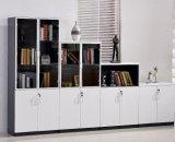 Biblioteca da prateleira do escritório do gabinete de arquivo com mobília de escritório de vidro da porta