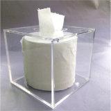 China-Qualität kundenspezifischer quadratischer freier schöner Gewebe-acrylsauerkasten