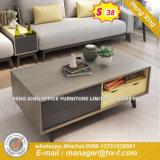 Moderno acabamento Ouro Réplica de vidro suporte para TV (HX-8ª9039)