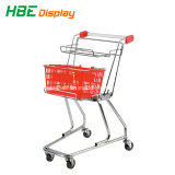 Chariot de supermarché Double Panier Le panier