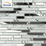 Mosaico di vetro lucido di vetro di Backsplash della striscia di colore dell'acciaio inossidabile di miscela del nastro