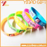 Bracelet coloré de bracelet de silicones de logo fait sur commande pour des cadeaux de promotion