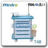 Patient Treatment를 위한 I. v. Drip Hook를 가진 의학 Aluminium& ABS Emergency Hospital Trolley