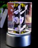 Cubo di cristallo della foto reso personale modo 3D/blocco per grafici di vetro della foto del cubo