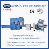 Apertura de la fibra y almohadilla o máquina de rellenar de la configuración del peso del amortiguador