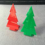 Support acrylique de boucles d'oreille de seule de modèle canalisation verticale de Tableau pour Noël