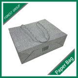 Sac de empaquetage de papier de couleur grise et pourprée