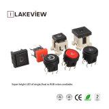 Commutateur micro imperméable à l'eau antipoussière lumineux de tact de DEL