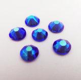 사파이어 2088년 Cutting Round Flat Sequins Flat Back Crystal Beads Rhinestones (FB ss20 sapphire/5A)