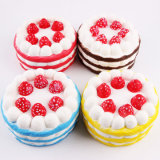 Шарик усилия отпуска торта Jumbo Squishy игрушки еды цветастый