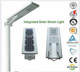 Via solare durevole Lamp20W 30W 40W 50W 60W 80W 90W 110W 120W della lega di alluminio di prezzi di fabbrica di alta qualità; Tutto il Ine un indicatore luminoso di via solare 110W