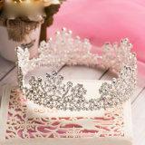 Crown Noiva Acessórios de Casamento Suite Hair Jóias Rhinestone coroa de volta de espessura com revestimento de prata Tiaras Mulheres