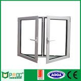 Het Australische StandaardOpenslaand raam van Openning van de Schommeling van het Aluminium Dubbele