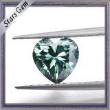 중앙 녹색 8*8mm 심혼 판매에 화려한 커트 Moissanite 돌