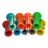 Pipe de fumage portative d'équipement de TAPE d'huile de silicone de pipes de fumage de l'eau de silicones de vente chaude