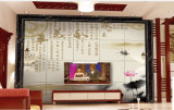 Het Marmer van de Lijn van de Decoratie van de muur met Wit 800*10