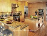 De zwarte TegenBovenkant van de Keuken van het Kwarts van het Graniet Countertop Gebouwde Marmeren