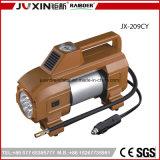 De apariencia fina Luz Brillante de Inflador de neumáticos / 12 V CC Cilindro doble coche Mini compresor de aire