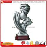 На заводе Custom полимерная смола абстрактные фигурка статуи с бронзового или серебристого цвета