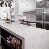 Bancada de superfície gracioso branca da cozinha de Carrara