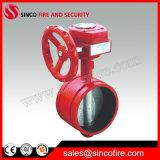 2 - 6 дюйма пожарных сигнал с канавками двухстворчатый клапан