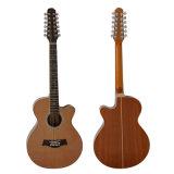 Guitare acoustique de chaîne de caractères de la vente en gros 12 d'usine d'Aiersi