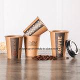Tazza di caffè a parete semplice della carta kraft dell'oncia 8 oncia 12 oncia 16 oncia della fabbrica 6