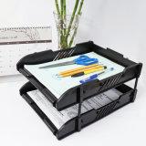 2 Camadas de boa qualidade Organizador de escritório de plástico/Bandeja de escritório
