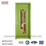 O design do painel de madeira portas industriais com vidro