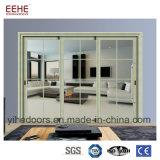Puerta de vidrio de desplazamiento de aluminio del balcón para el uso interior