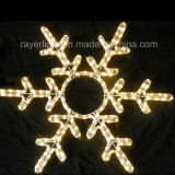屋外の装飾のための100cm LEDロープの雪片のモチーフLEDのクリスマスの照明