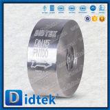 Задерживающий клапан вафли подъема нержавеющей стали F316 Didtek API 6D