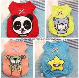 Abastecimento em produtos do animal de estimação, roupa do cão dos desenhos animados do Tshirt da roupa do filhote de cachorro