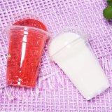 Copos de plástico biodegradável o logotipo personalizado de plástico da capa transparente impressa