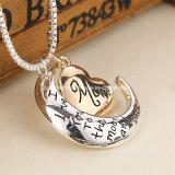 عال قلب مجوهرات يحبّ أنا أنت إلى القمر وخلفيّ [موم] مدلّاة عقد [موثر دي] هبة بيع بالجملة نمو مجوهرات