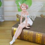 Beeldje van de Fee van de Decoratie van de Cake van de Prijs van de douane het Goedkope Miniatuur Witte