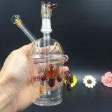 Tubulação de fumo de vidro do copo de Starbuck da tubulação de água do cachimbo de água da plataforma petrolífera da tartaruga do copo do mel mini