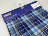Il filo di cotone ha tinto il tessuto dell'assegno della ratiera con ammoniaca liquida e Stretch-Lz7602 meccanico